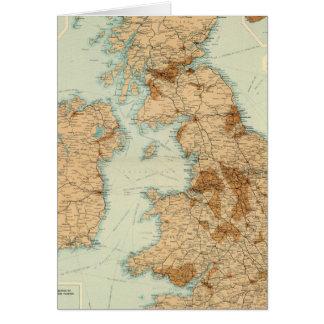 British Isles railways & industrial map Card