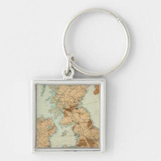 British Isles railways & industrial map Key Ring