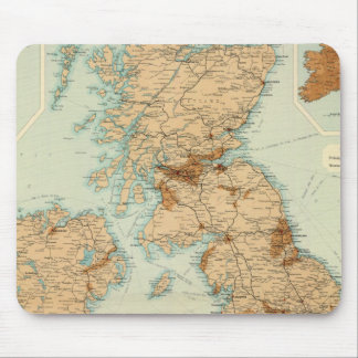 British Isles railways & industrial map Mouse Mat