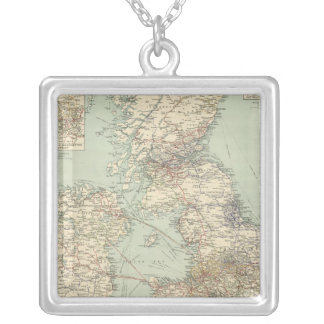 British Isles railways Silver Plated Necklace