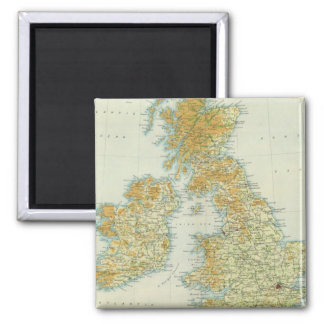 British Isles vegetation & climate map Magnet