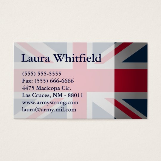 British Keep Calm Carry British Flag Business Card
