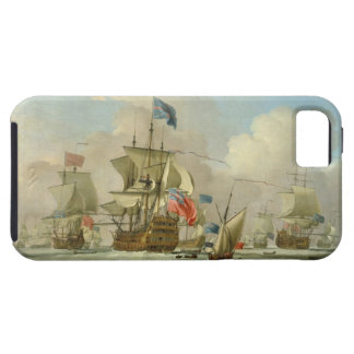 British Men-of-War and a Sloop, c.1720-30 (oil on Tough iPhone 5 Case