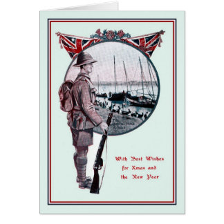 British Military history Christmas Note Card