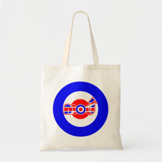British Mod Scooter design Budget Tote Bag
