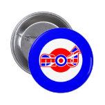 British Mod Scooter design Pinback Buttons