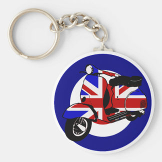 British mod scooter on target key ring