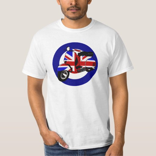 British mod scooter on target shirt
