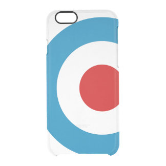 British Mod Target Design Clear iPhone 6/6S Case
