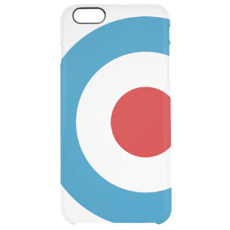 British Mod Target Design Clear iPhone 6 Plus Case