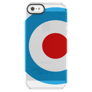 British Mod Target Design Clear iPhone SE/5/5s Case