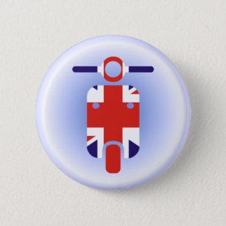 British Moped Scooter 6 Cm Round Badge