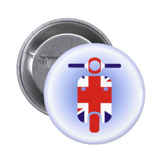 British Moped Scooter 6 Cm Round Badge