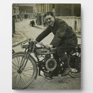 British Motorcycle Vintage Early 1900s Photo Plaques