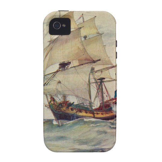 British Navy Ship iPhone 4 Vintage Inspired Case