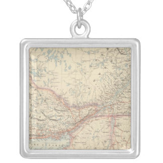 British North America 2 Silver Plated Necklace