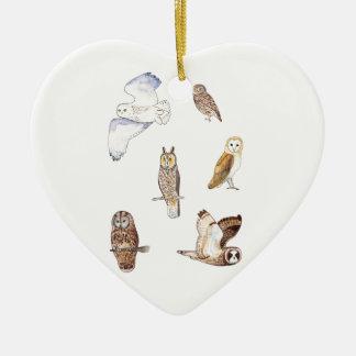 British owl species christmas ornament