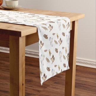 British owl species short table runner
