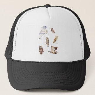 British owl species trucker hat