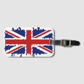 British paint flag luggage tag