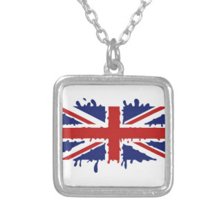 British paint silver plated necklace
