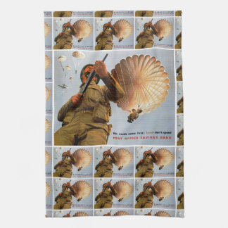 British Paratrooper ~ His Needs Come First Hand Towel
