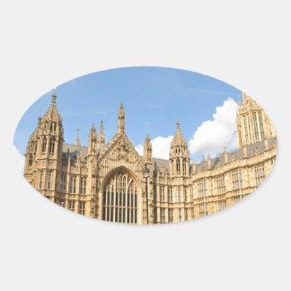 British Parliament Oval Sticker