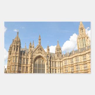 British Parliament Rectangular Sticker