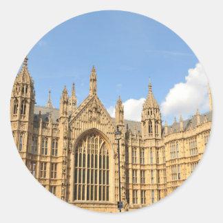 British Parliament Round Sticker