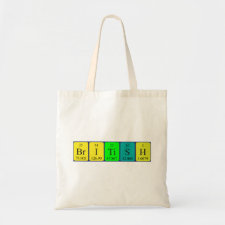 British periodic table patriotic tote bag