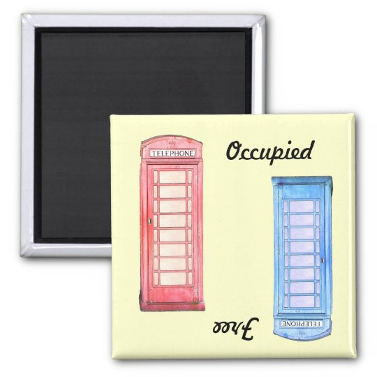 British phone booth dishwasher magnet -
