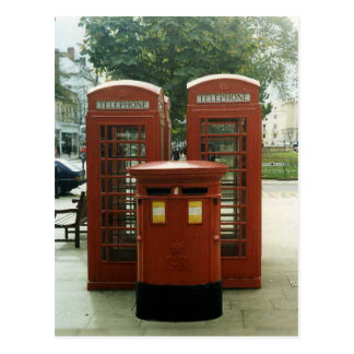 British Pillar Box and telephone kiosks Postcard