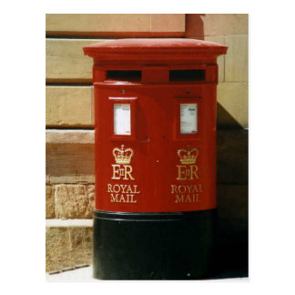 British pillar box postcard