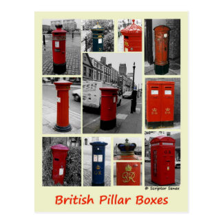 British Pillar boxes Postcard