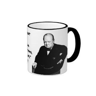 British PM Winston Churchill - On Having Enemies Mugs