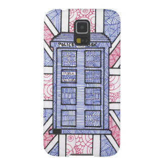 British Police Box and Union Jack Flag Illustrated Galaxy S5 Case