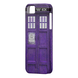 British Police Public Call Box (Purple) iPhone 5 Cover