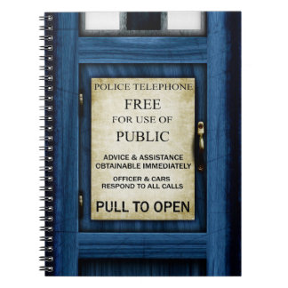 British Police Public Call Box Sign Notebook 2