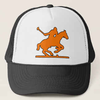 British Polo Sport Horse Player Silhouette Ponies Trucker Hat