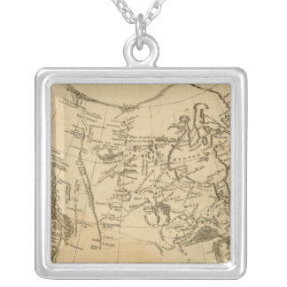 British Possessions in America Silver Plated Necklace