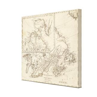 British Possessions in North America Canvas Print