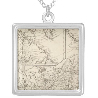 British Possessions in North America Silver Plated Necklace