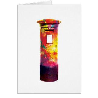 British Post Box - Abstract Greetings Card