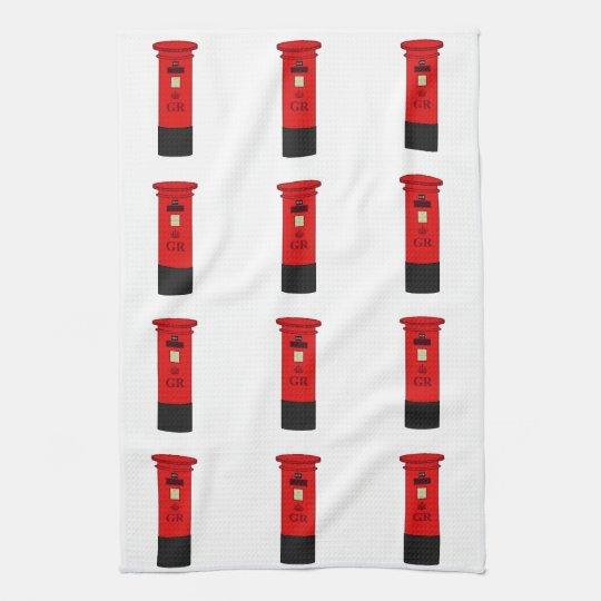 British Post Box Tea Towel