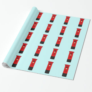 British Post Box Wrapping Paper