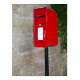 British postbox postcard