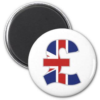 British Pound 6 Cm Round Magnet