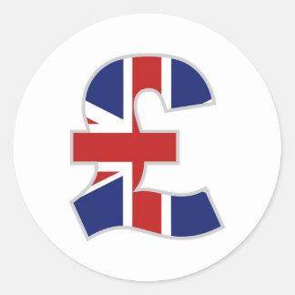 British Pound Classic Round Sticker