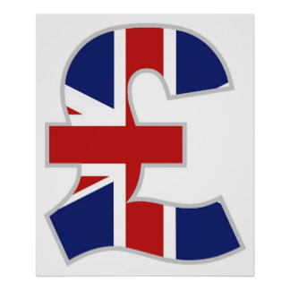 British Pound Poster