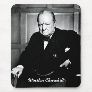 British Prime Minister Sir Winston Churchill Mouse Pad